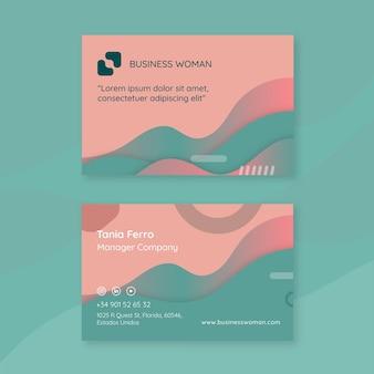Modelo de cartão - mulher de negócios