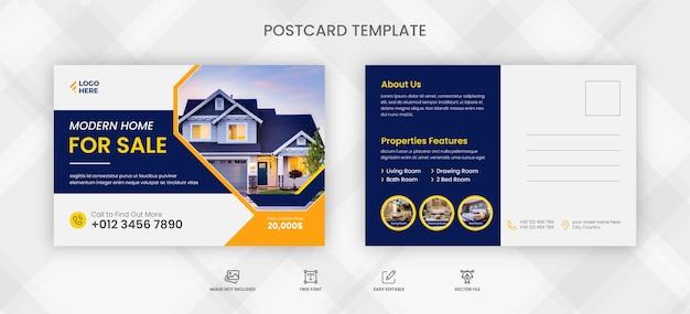 Modelo de cartão postal de imóveis