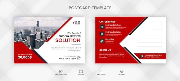 Modelo de cartão postal de negócios de transporte