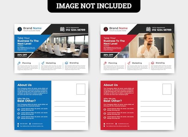 Modelo de cartão postal de promoção de negócios