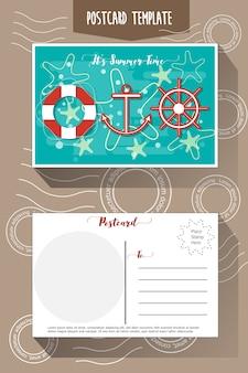 Modelo de cartão postal