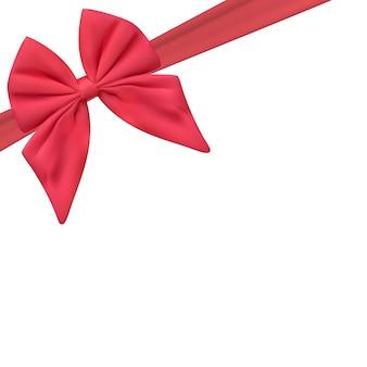 Modelo de cartão presente em branco com laço rosa e fita. ilustração vetorial para o seu negócio