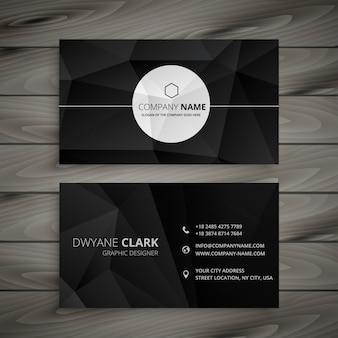 Modelo de cartão preto abstrato