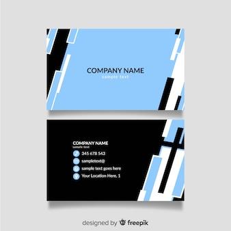 Modelo de cartão preto e azul