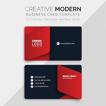 Modelo de cartão preto moderno