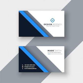 Modelo de cartão profissional azul elegante