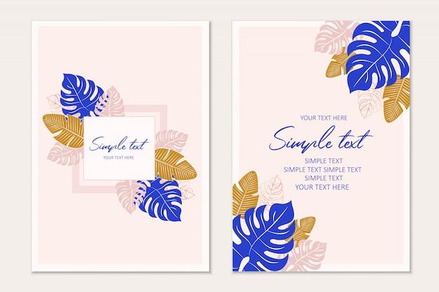 Modelo de cartão tropical fundo tropical