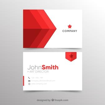 Modelo de cartão vermelho abstrato