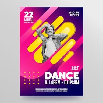 Modelo de cartaz 2021 de evento de música