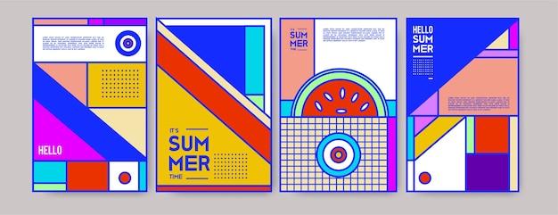 Modelo de cartaz colorido de verão