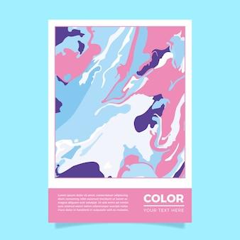 Modelo de cartaz colorido efeito fluido