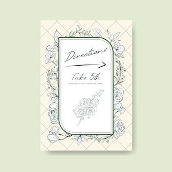 Modelo de cartaz com cerimônia de casamento para brochura e folheto
