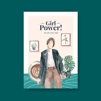 Modelo de cartaz com design de conceito de dia mundial da água para propaganda e brochura ilustração em aquarela