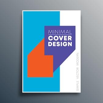 Modelo de cartaz com design de vírgulas de citação para modelo de folheto, cartaz, capa de brochura, tipografia ou outros produtos de impressão. ilustração vetorial.