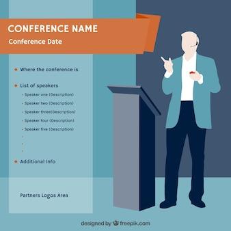 Modelo de cartaz conferência