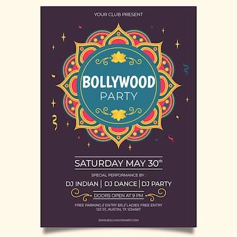 Modelo de cartaz criativo festa bollywood