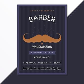 Modelo de cartaz de bigode movember
