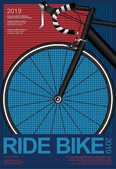 Modelo de cartaz de ciclismo de andar de bicicleta