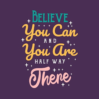 Modelo de cartaz de citação de motivação criativa inspirador. vector tipografia banner design background. mão desenhada rotulação citações inspiradoras e motivacionais.