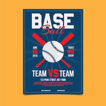 Modelo de cartaz de competição de beisebol