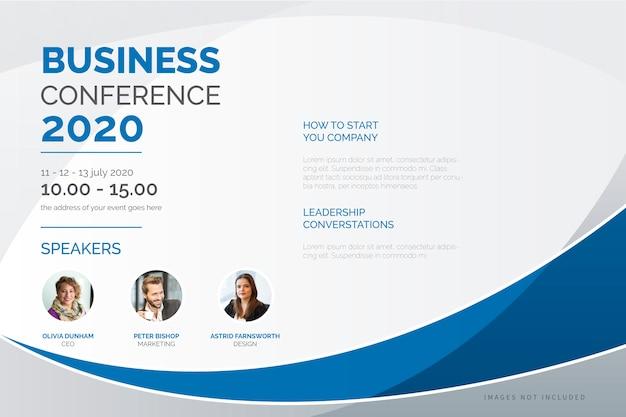 Modelo de cartaz de conferência de negócios elegante