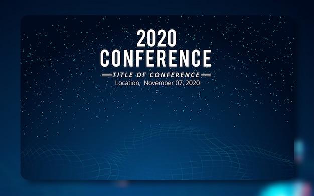 Modelo de cartaz de conferência.
