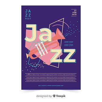 Modelo de cartaz de dia internacional do jazz