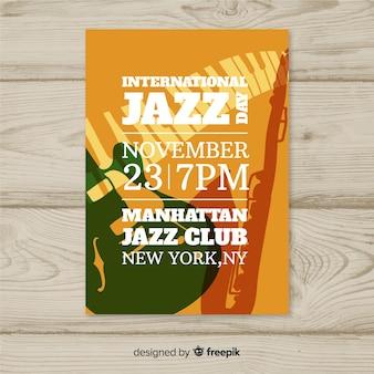 Modelo de cartaz de dia internacional do jazz