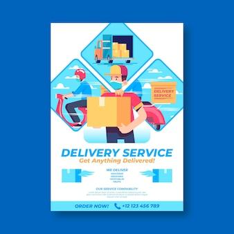 Modelo de cartaz de entrega
