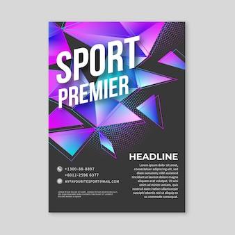 Modelo de cartaz de esporte