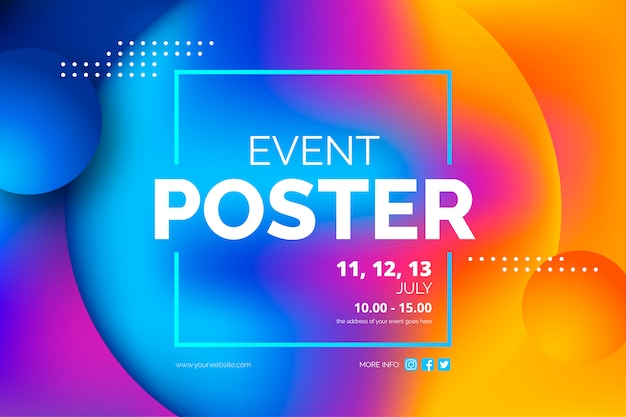 Modelo de cartaz de evento abstrato