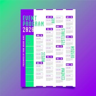 Modelo de cartaz de evento de programação