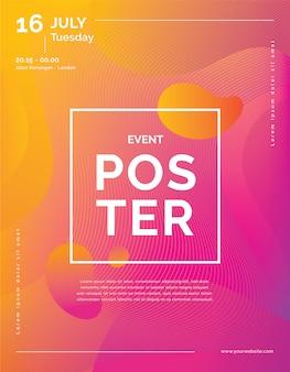 Modelo de cartaz de evento moderno