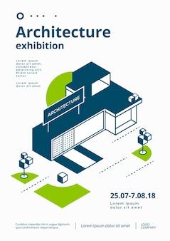 Modelo de cartaz de exposição de arquitetura.