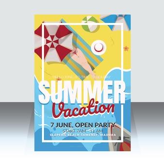 Modelo de cartaz de férias de verão
