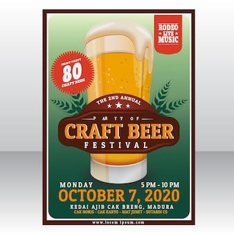 Modelo de cartaz de fest de cerveja