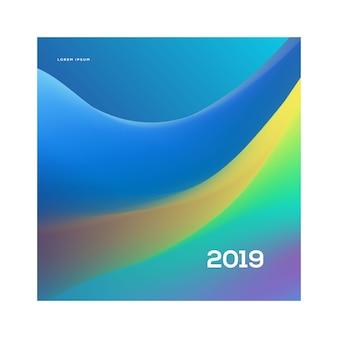 Modelo de cartaz de festa de ano novo 2019