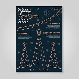 Modelo de cartaz de festa de ano novo