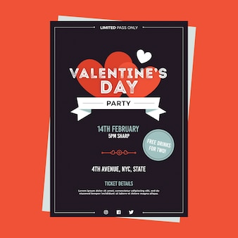 Modelo de cartaz de festa de dia dos namorados