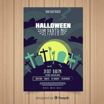 Modelo de cartaz de festa de halloween criativo