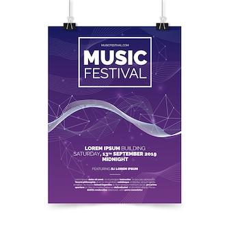 Modelo de cartaz de festa de música abstrata