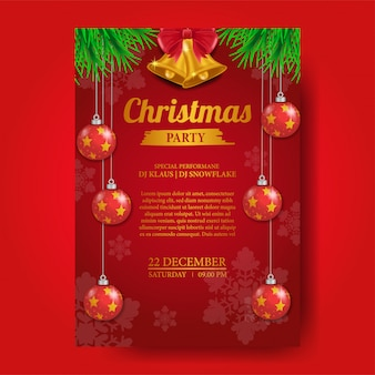 Modelo de cartaz de festa de natal
