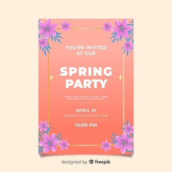 Modelo de cartaz de festa de primavera