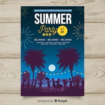 Modelo de cartaz de festa de verão