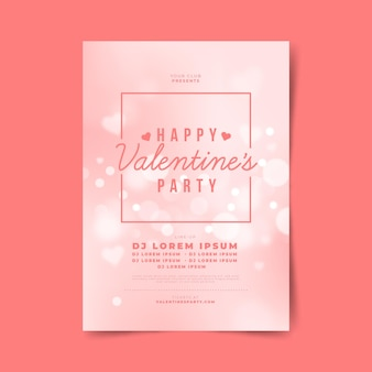 Modelo de cartaz de festa do dia dos namorados turva