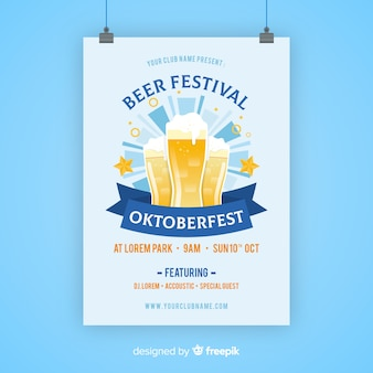 Modelo de cartaz de festa oktoberfest