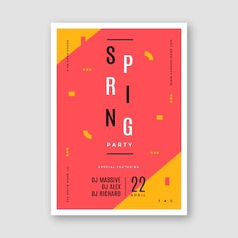 Modelo de cartaz de festa primavera abstrata
