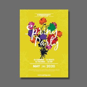 Modelo de cartaz de festa primavera