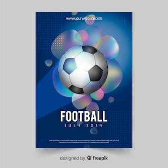 Modelo de cartaz de futebol ou design de folheto
