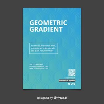 Modelo de cartaz de gradiente geométrico